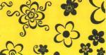 Goma Eva 35x47 Flores Negro Fondo Amarillo 2mm
